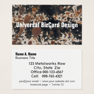 Rusty Black Metal Grunge Background Business Card