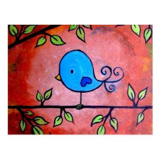 Rusty Blue Bird Postcard