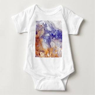 Rusty Blue Quartz Crystal Baby Bodysuit