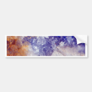 Rusty Blue Quartz Crystal Bumper Sticker