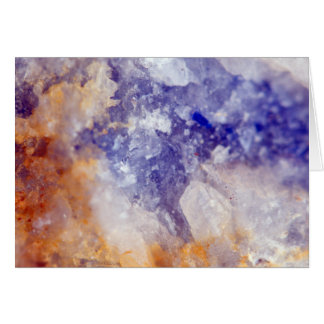 Rusty Blue Quartz Crystal Card