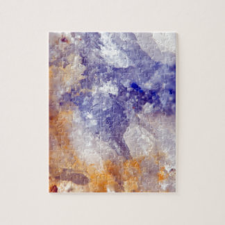 Rusty Blue Quartz Crystal Jigsaw Puzzle
