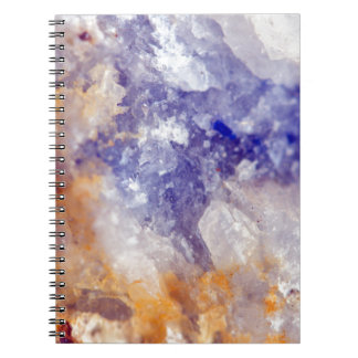 Rusty Blue Quartz Crystal Notebook