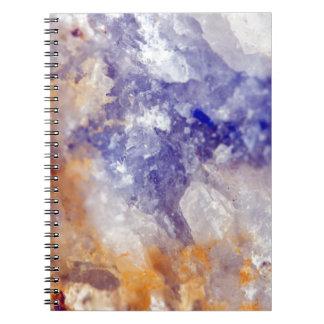 Rusty Blue Quartz Crystal Notebooks