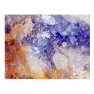Rusty Blue Quartz Crystal Postcard