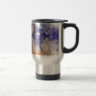 Rusty Blue Quartz Crystal Travel Mug