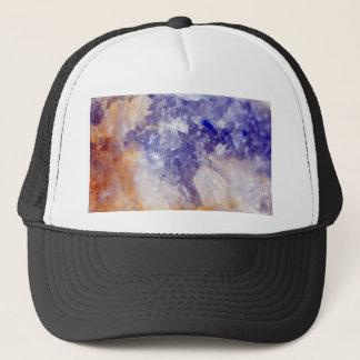 Rusty Blue Quartz Crystal Trucker Hat