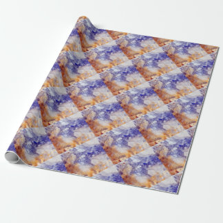 Rusty Blue Quartz Crystal Wrapping Paper