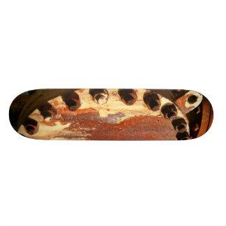 Rusty bolts custom skateboard