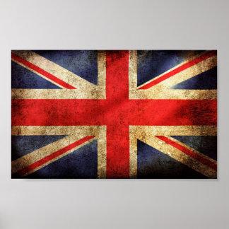 Rusty British Flag Poster