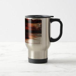 rusty brown art burn smoke Abstract Antique Junk S Travel Mug