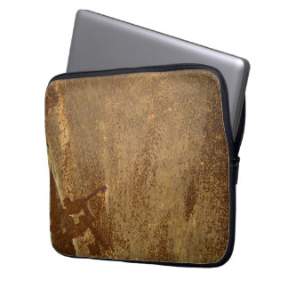 Rusty Brown Metal Neoprene Laptop Sleeve 13 inch