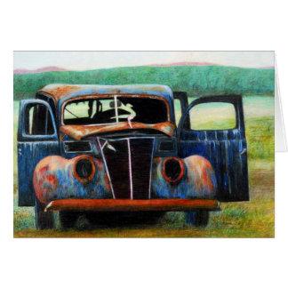 Rusty Car Card
