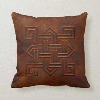 Rusty Celtic Knot Pillow