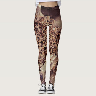 Rusty chain leggings