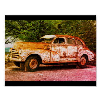 Rusty Classic Car Poster