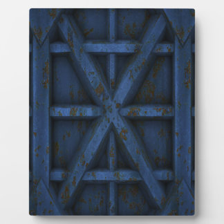 Rusty Container - Blue - Display Plaque