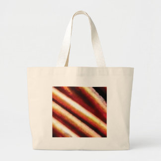 rusty copper tubes large tote bag