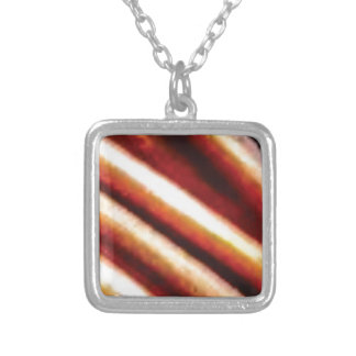 rusty copper tubes silver plated necklace