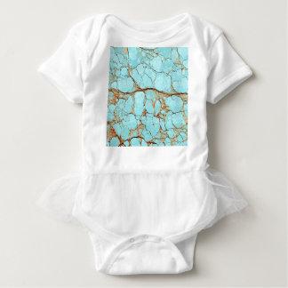 Rusty Cracked Turquoise Baby Bodysuit
