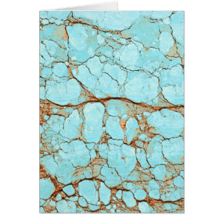 Rusty Cracked Turquoise Card