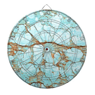 Rusty Cracked Turquoise Dartboard