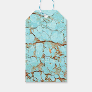 Rusty Cracked Turquoise Gift Tags