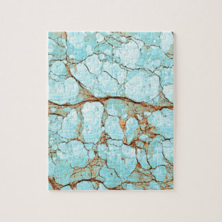 Rusty Cracked Turquoise Jigsaw Puzzle