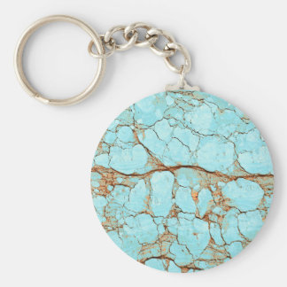 Rusty Cracked Turquoise Keychain