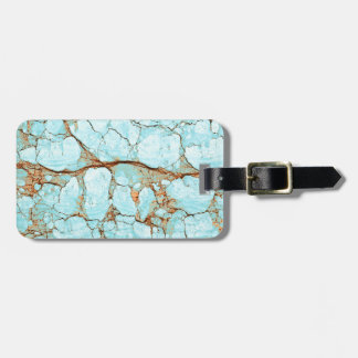 Rusty Cracked Turquoise Luggage Tag
