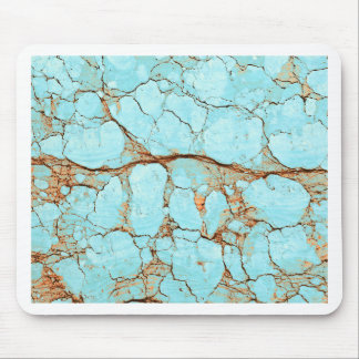Rusty Cracked Turquoise Mouse Pad