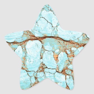 Rusty Cracked Turquoise Star Sticker