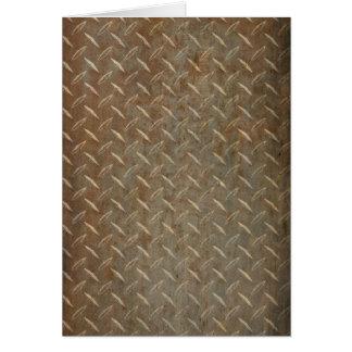 Rusty Diamond Plate Card