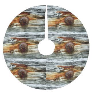 rusty driftwood dock boards brushed polyester tree skirt
