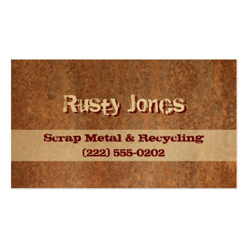 Rusty Edge Business Cards