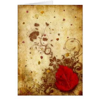 Rusty Fall Card