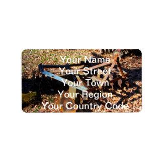 Rusty Farm Field Equipment Address Label