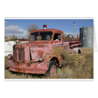 Rusty Fire Truck Card