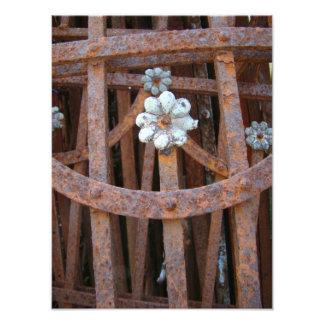 Rusty Flower print Photo Print
