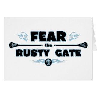 Rusty Gate - blue Card