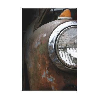 Rusty Headlight Canvas Photographic Print