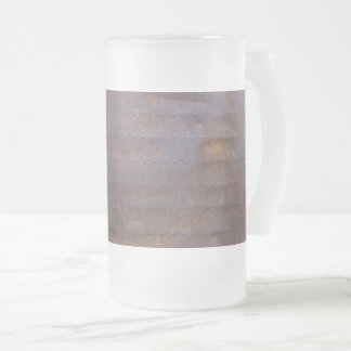 Rusty Iron Texture Background Frosted Glass Beer Mug