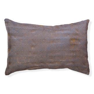 Rusty Iron Texture Background Pet Bed