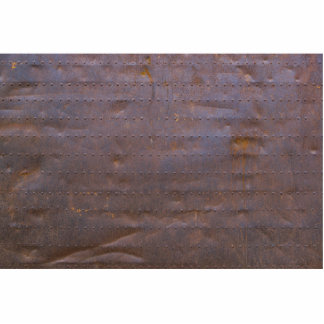 Rusty Iron Texture Background Photo Sculpture Button
