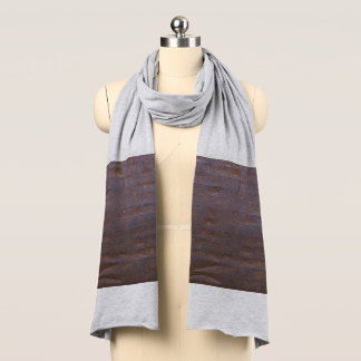 Rusty Iron Texture Background Scarf