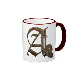 Rusty Knights Initial A Mug