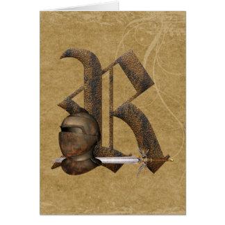 Rusty Knights Initial R Card