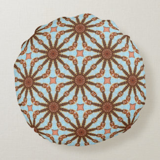Rusty-Mandala / Rost-Art Round Pillow