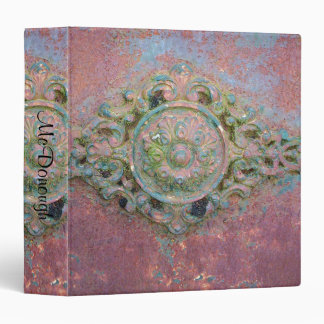 Rusty Medallion Pattern 3 Ring Binder