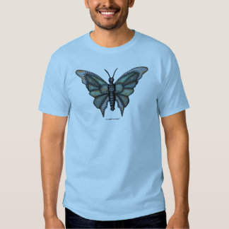 Rusty metal butterfly graphic art cool t-shirt